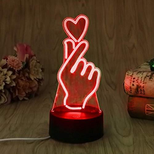 3D Lampe Nachtlicht Stimmungslicht Liebe 7 Farben niedliche Cartoon-Form Touch Switch Acryl Flat & ABS Base Deko besten für Kinder Spielzeug geschenk Haus Dekoration