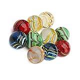 Neez Murmeln, Glasmurmeln, Deko Kugeln Durchsichtig Klare Dekoration Glaskügelchen bunt Spielzeug, Packung mit 50/100/200 Stück