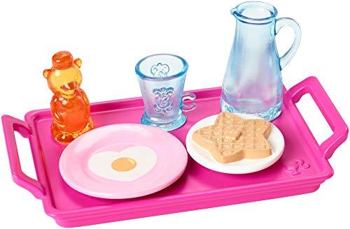 Mattel Set Desayuno - Accesorios Cocina | Barbie FXG28 | Objetos de Decoración