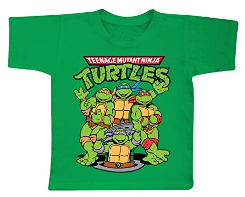 TMNT - T-Shirt KIDS TMNT Group - Green (4 Years) : TShirt , ML