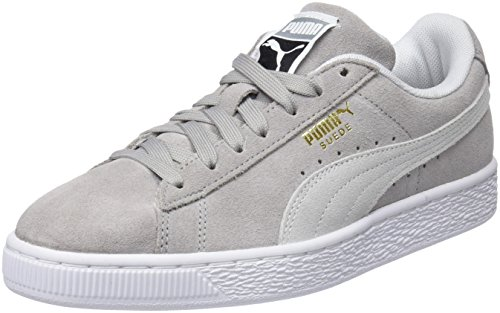 Puma Unisex-Erwachsene Suede Classic Sneaker, Grau (Ash White), 36 - Damen Designer Sneakers