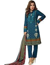 18c9e9b4fd Surkhab Impressions Women's Pure Lawn Cotton Printed Pakistani Salwar Suit  Dress Material