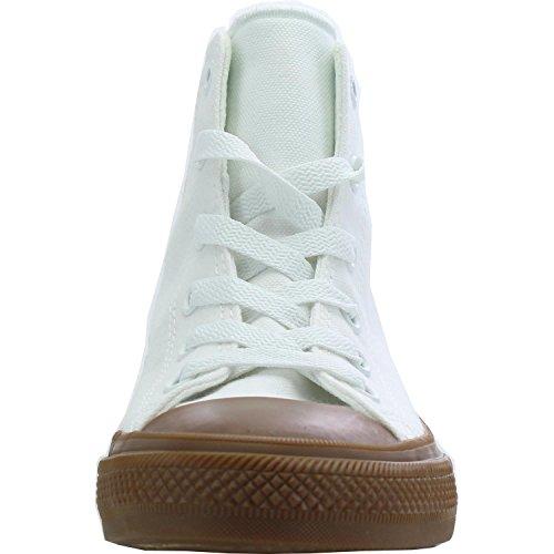 Converse Chuck Taylor All Star II Hi White Gum Textile Junior Trainers White Gum