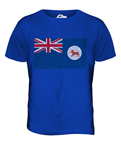 CandyMix Tasmanien Kritzelte Flagge Herren T Shirt Königsblau