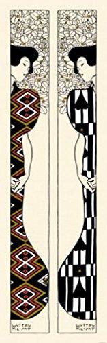 1art1 73760 Gustav Klimt - Zwei Silhouetten, 1912, 1-Teilig Fototapete Poster-Tapete 250 x 79 cm