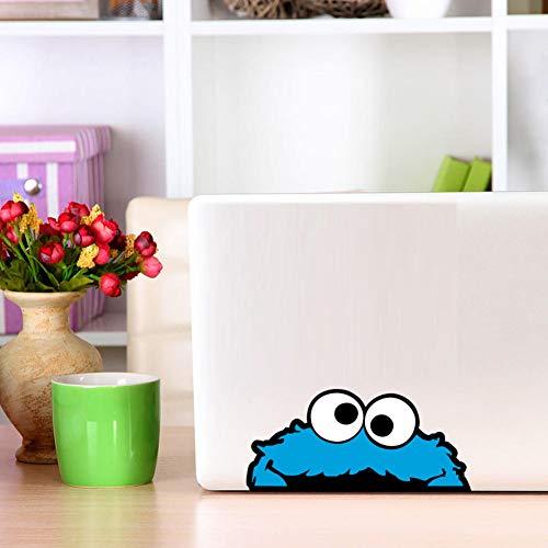 Bunte Peeping Cookie Monster Volle Farbe Vinyl Wandaufkleber Auto Autoaufkleber Laptop Wandkunst Aufkleber Tapete Wohnkultur