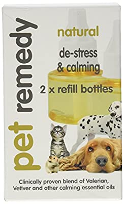 Pet Remedy Natural De-Stress and Calming Refill Pack, 40 ml, Pack of 2 from Pet Remedy