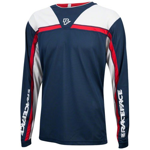 Race Face in Jersey Stage Navy/Flame, Blau, XL