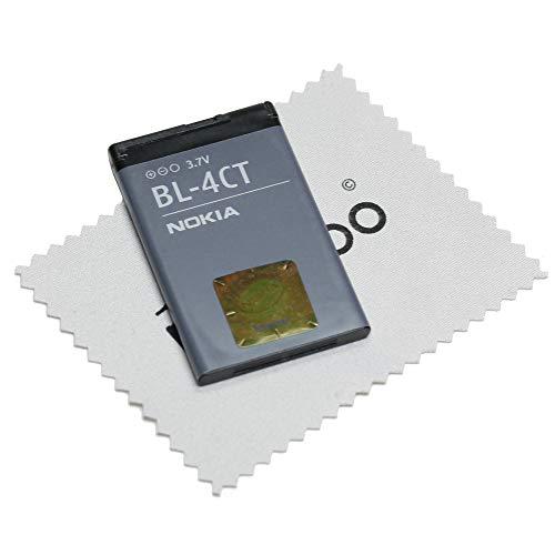 Batterie pour Nokia Original BL-4CT pour Nokia 2720 Fold, 5310, 6600 Fold, 6700 Slide, 7210 Supernova, 7230, 7310 Supernova, X3 avec chiffon de nettoyage mungoo