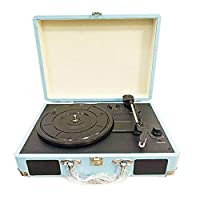 Muslady Retro Record Player 33RPM Antique Gramophone Turntable Disc Vinyl Audio 3-Speed Aux-in Line-out USB DC 5V Gramophones