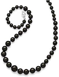 d86ea99e191a Lex   Lu - Collar de Plata de Ley con Cuentas de 6 – 12 mm