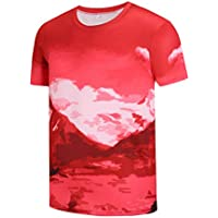 Redbear Sports Mens Mountain Trail Fitness Tech - T Running Shirt - All  Over Mountain Theme 790cc9da6