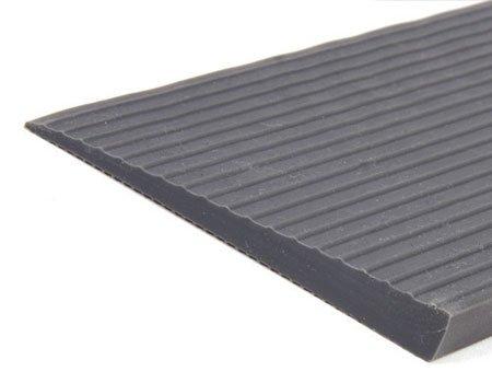 HomeCare Innovation | Gummi rampe für innen 100cm Breit | Schwellenrampe | Türschwellenrampe (8 x 80 x 1000 mm)