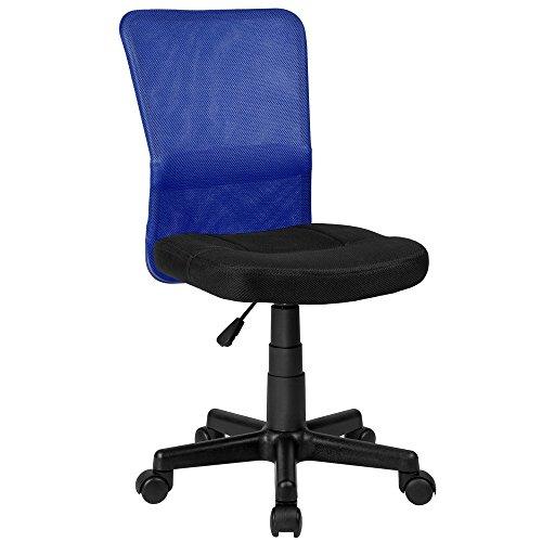 La Silla Española Mojácar Silla de Oficina y Despacho, Poliéster, Azul, 50x40x95 cm