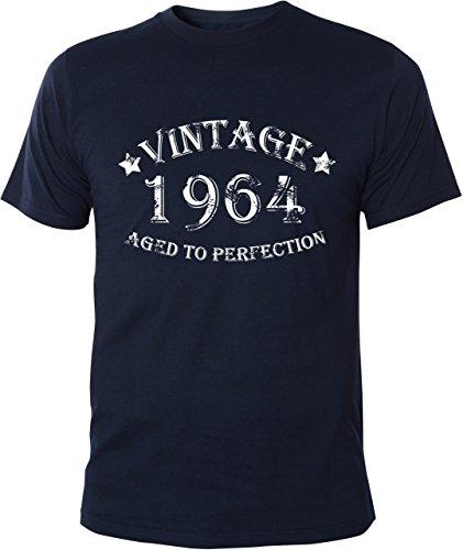 Mister Merchandise T-Shirt Vintage 1964 Aged To Perfection 50 Jahre Geburtstag Years - Uomo Maglietta S-XXL - Molti Colori