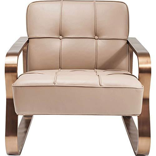Kare design - Fauteuil design cuir et acier DUNE