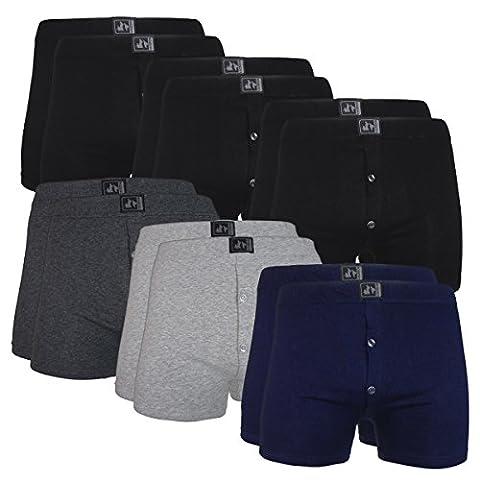 Homme Boxer Lot Pack De 12 Hommes Boxeur Short Cadeau Sous-Vêtements Caleçons De Coton Nouveauté - Corporate1 (12er pack) - Large ( Waist 34 - 36 )