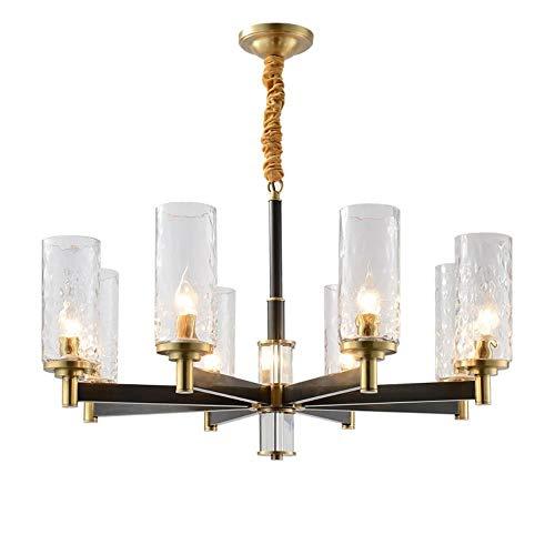 Moderne kupfer kronleuchter licht indoor wohnzimmer halle foyer 8 arm 12 arm glas suspension beleuchtung lamparas leuchte e14 led lampe, 6 arm -