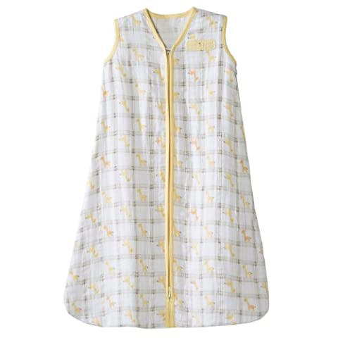 Halo Sleepsack Baby Wearable Blanket 100% Cotton Muslin-Medium 6-12 Months-Yellow Giraffe