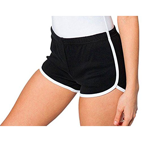 American Apparel Damen Short Gr. Large, schwarz / weiß (Capri Wear Athletic)