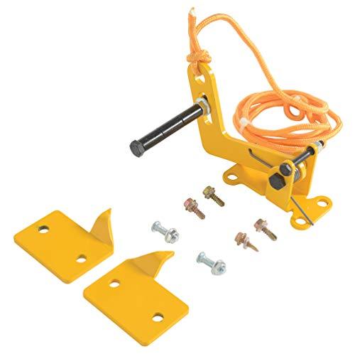 vestil dr-lock Automatische Overhead Tür-Zusatzschloss mit Finish, Heavy Duty aus geschweißtem Stahl, gelb lackiert -