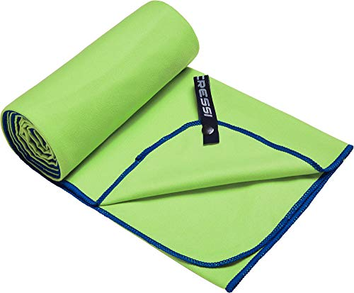Cressi Microfibre Fast Drying Playa Toalla Sport, Adultos Unisex, Verde/Azul, 90x180