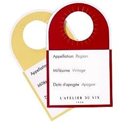 L'ATELIER DU VIN - Étiquettes-Témoins - Différenciez vos Vins d'un Coup D'œil - 40 Étiquettes