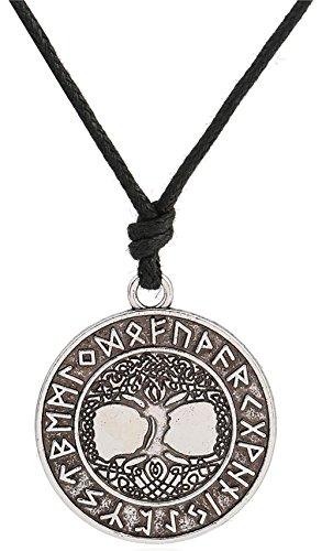 Wikinger Talisman Rune Yggdrasil keltisch Baum des Lebens Weltbaum Halskette