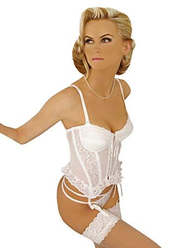 Gracya Madonna Corsage String Set Weiss