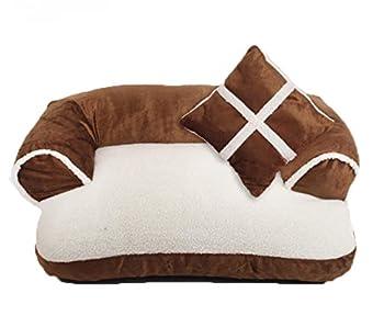 Axcone Panier Chien, Lit pour Chien,Cat Bed,Coussin, Lavable avec Coussin Réversible pour Chien -4-XL