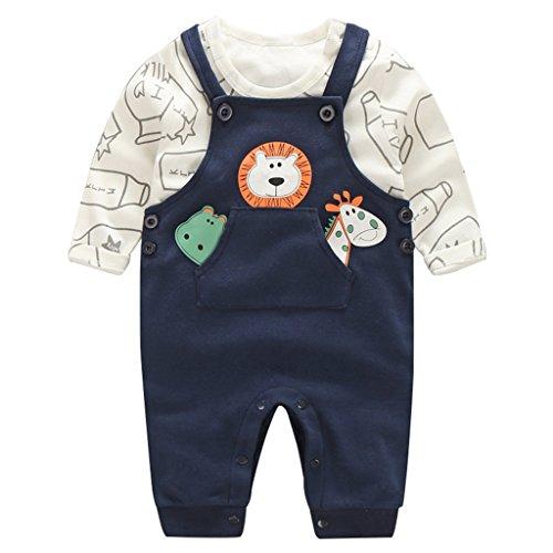 Baby Overalls 2 Sets Latzhose Unisex Shirts und Hose Taufbekleidung Bekleidungssets Strampler für Jungen Mädchen 3 Monate - 4 Jahre Vine Vines Design Snap