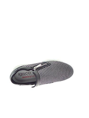 Igi&Co , Damen Sneaker Schwarz / Silber