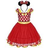 Bebé Niña Vestido de Fiesta Princesa Disfraces Tutú Ballet Lunares Fantasía Vestid Carnaval Bautizo Cumpleaños Baile para Infantiles Recién Nacido Disfraces de Princesa con Diadema 12 Meses