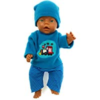 Handarbeit Puppenkleidung 43 cm passend für zb Baby Born Kleidung set Junge Boy 12