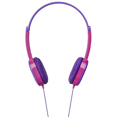 Hama Mädchen Kopfhörer Kids (Lautstärkebegrenzung 85 dB, On-Ear, Ultraleicht, Stereo, 3,5 mm Klinke, 1,2 m Kabel, für tiptoi geeignet) lila/pink