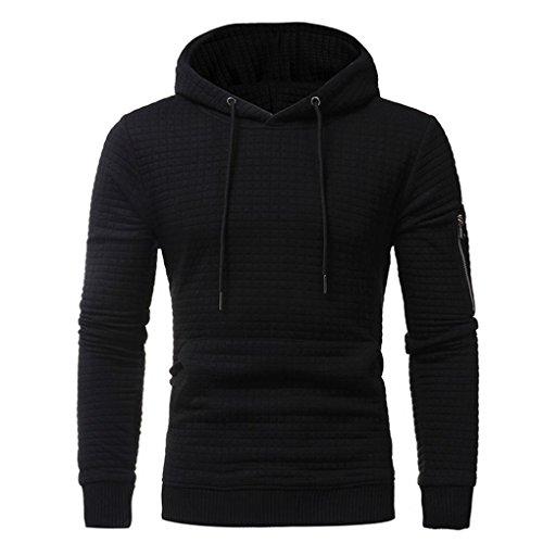 Herren Kapuzenpullover Herbst Winter Pullover Winterpullover Strickpullover für Männer Hoodie Sweatshirt Tops Mantel Outwear Elecenty