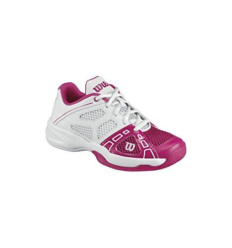 WILSON Rush PRO Junior, Scarpe da Tennis Unisex – Bambini, Rosa (Pink), 33 1/3 EU