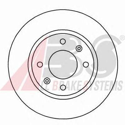 ABS 16648 Bremsscheiben - (Verpackung enthält 2 Bremsscheiben)