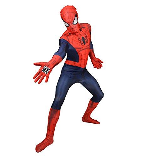 (Halloween Party Spiderman Morphsuit Ganzkörperanzug, Größe:Large)