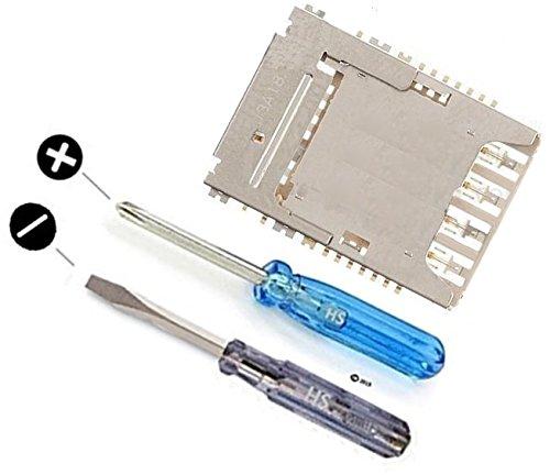 MMOBIEL Mikro SIM Karte Reader für Samsung Galaxy Note 3 N9000 Kartenhalter/Kartenleser Slot Tray Halter Leser Halterung Flex Kabel inkl 2 x Schraubenzieher für einfachere Installation