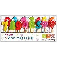 ScrapCooking 5006 1,2,3 Ans Set DE 15 Bougies Paraffine Multicolore 10,5 x 17 x 2 cm