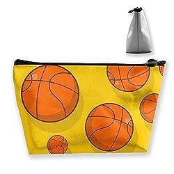 Tragbare Shell Make-up Tasche Clutch Basketball Print Reise Aufbewahrungstasche Telefon Geldbörse