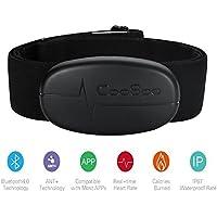 HRM-Run Fascia Cardio, Onlydroid con fascia toracica nero intelligente Bluetooth e ANT + compatibile con molti orologi sportivi come Garmin, Polar e Sunnto