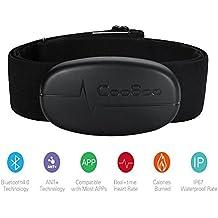 CooSpo H6modo Dual Bluetooth & Ant + Heart Rate Monitor/Bluetooth V4.0inalámbrico Sport pulsómetro pecho cinturón Monitor, color negro