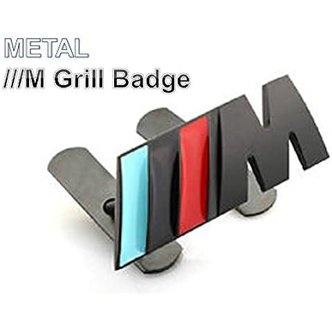 BMW///M in metallo 3d griglia Logo Blu Nero Rosso M-Tec