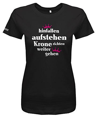 HINFALLEN AUFSTEHEN KRONE RICHTEN WEITER GEHEN - Schwarz - WOMEN T-SHIRT by Jayess Gr. S
