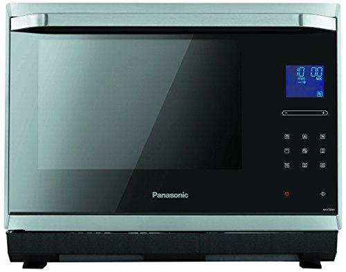 Panasonic NN-CS894SEPG Mikrowelle  1000 Watt  32 Liter Garraum  Dampfgarer, Inverter, Grill und Ofen in einem Produkt  Edelstahl  schwarz