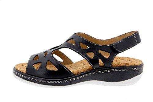 Chaussure femme confort en cuir Piesanto 1905 sandales à semelle amovible confortables amples Noir