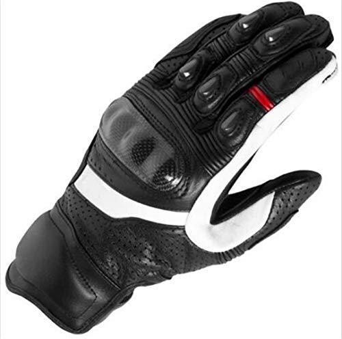 Motorradhandschuhe Motocross Road Racing Handschuhe Echtes Leder Motorradhandschuhe Schwarz Black XL