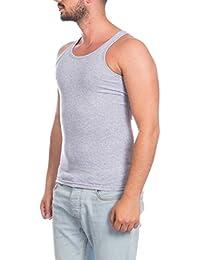 f6bf0849630537 Herren Tank Top Muskelshirt Achsel Unterhemd Ripp Shirt Fitness Sport  Träger Grau